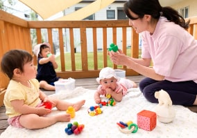 幼児クラスの遊び時間